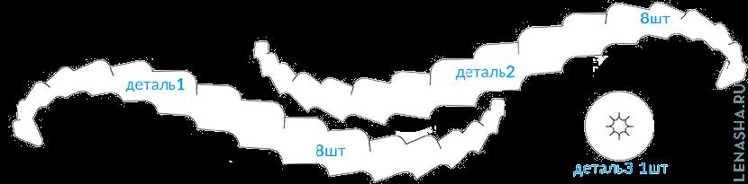 схема шишки из бумаги